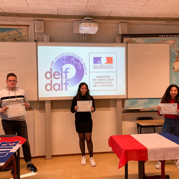 Leerlingen Lindenborg geslaagd voor internationaal erkend diploma Frans